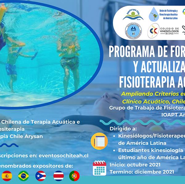 Flayer Programa Fisioterapia Acuática 2021